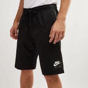 21f4691b Nike Sportswear Men's Air Black Knee Length Woven Shorts (928633-010 ...