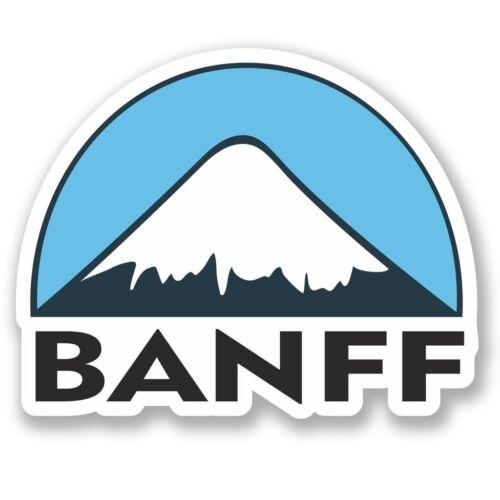2 x Banff Ski Snowboard Vinyl Sticker Laptop Travel Luggage Car #5149