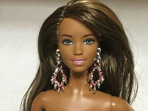 BARBIE EARRINGS LONG DANGLING SILVER earrings  for Barbie DOLL