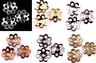1000pcs Silver/Golden/Bronze/Black Filigree Flower Bead Caps 6mm 7.5mm U Pick