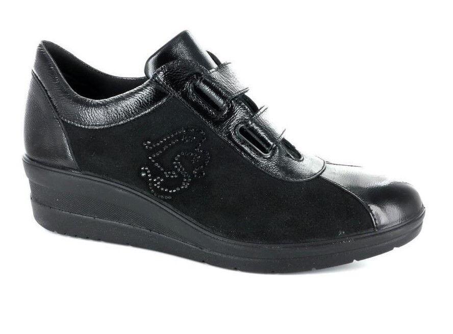 Damenschuh IMAC 206530 mit schwarzen echtes Leder hizammohemed hizammohemed Leder Klettverschluss a36216