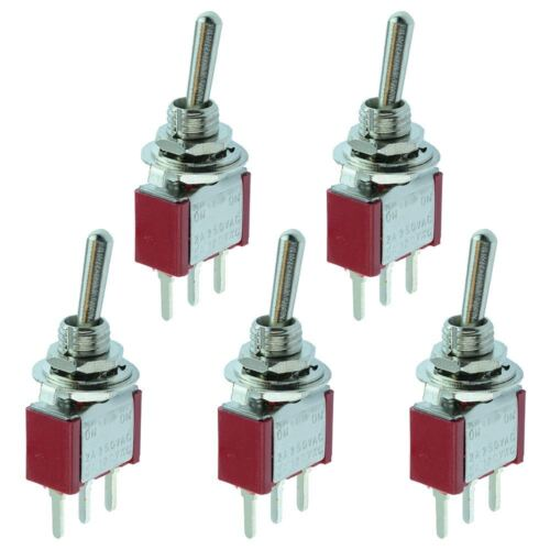 5 x On-On Miniature PCB Toggle Switch SPDT Mini
