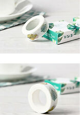 10 Metres Decorative Self adhesive tapes DIY leaf Pattern paper masking tape