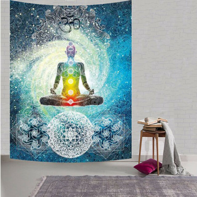 Om Meditation Tapestries Hippie Indian Tapestry Wall Hanging Yoga Wall Decor Art