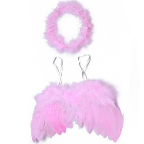 Lovely Baby Cupid Feather Wing Photo Props Costume Photography Set Gift CO