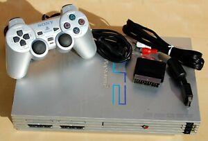 Consola Playstation 2 silver plata mod. scph-50004 con mando original y cables