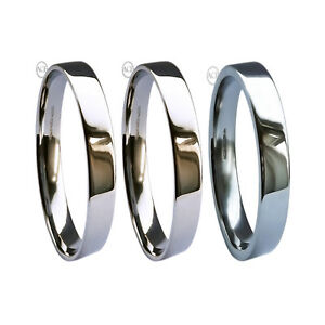 950 Palladium Flat Profile Extra Heavy Wedding Rings Bands 2 3 4 5 6 8mm UK HM