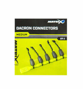 Dacron pole elastic connectors for solid and hollow elastics carp coarse fishing