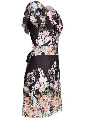 36/% OFF B17036115 Damen Violet Kleid kurz Off Shoulder geblümt Schleife schwarz