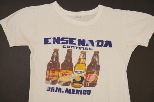 Vintage 70s Baja Mexico Beer T Shirt Thin Soft Sma