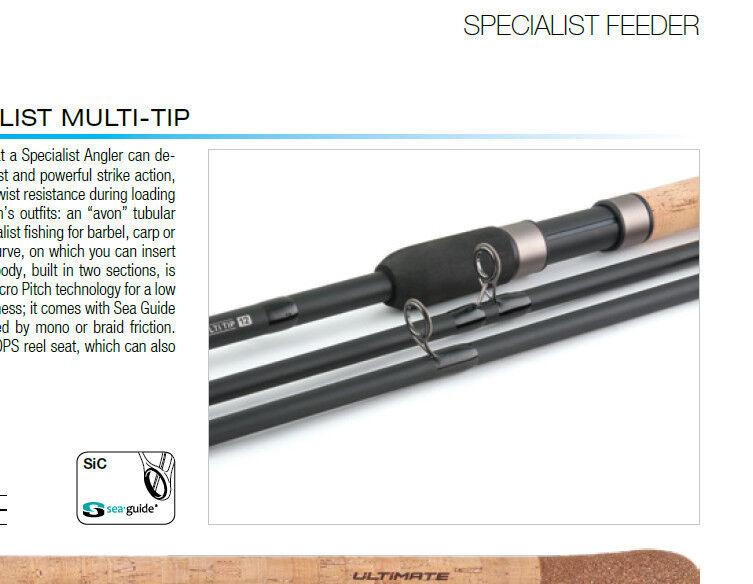 Trabucco twin tip barbel fishing rod  2 2.25 tips one tubular 2.25 2 tc + one multitip f0bd59