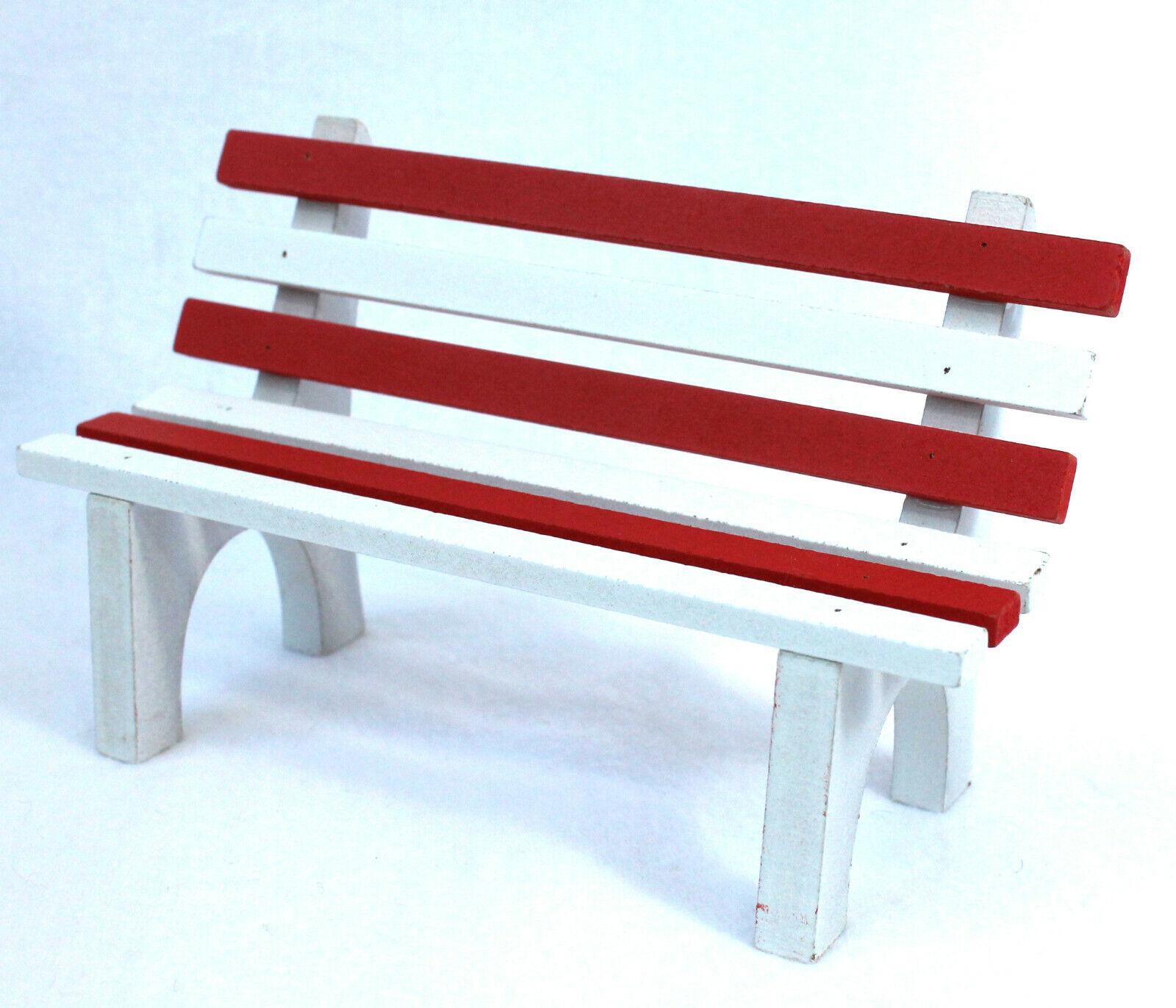 kleine Bank 16 x 10 cm rot-Weiss Sitzbank für Kantensitzer