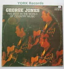 GEORGE JONES - His Best In The World Of Country Music - Ex Con LP Record Musico