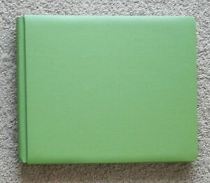 CREATIVE-MEMORIES-12x10-GREEN-LANDSCAPE-ALBUM-WITH-PAGES-BNOP