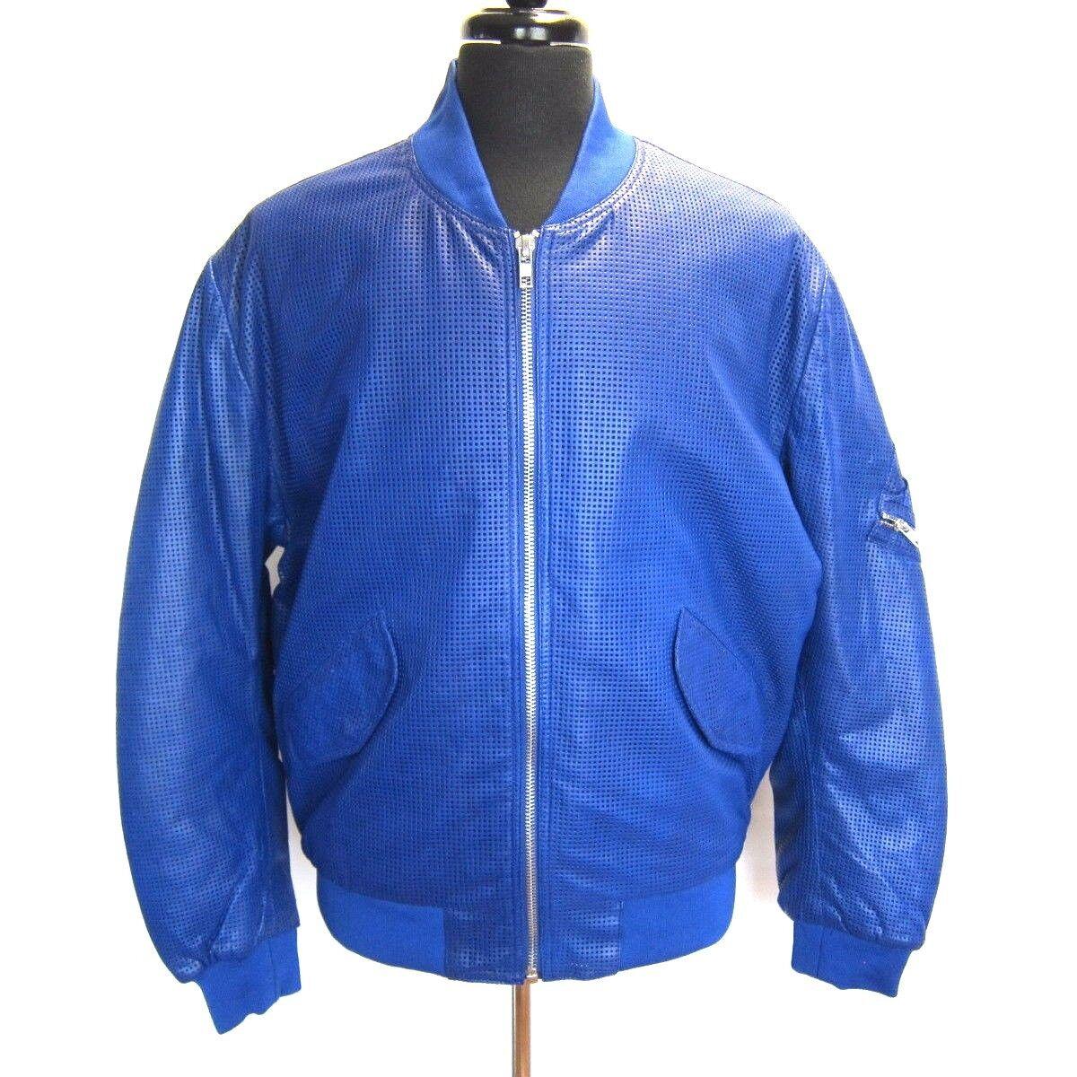 J-712300 Neu Alexander Mcqueen Reißverschluss Vorne Blau Jacke Mantel Größe 52 L