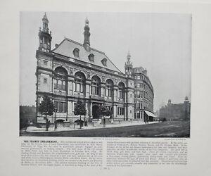 1896-LONDON-PRINT-WITH-DESCRIPTIVE-TEXT-THAMES-EMBANKMENT-CITY-OF-LONDON-SCHOOL