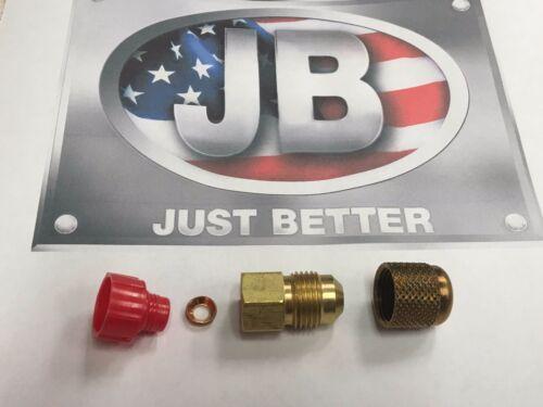 "Vacuum Pump Intake Adapter 1//4/""FMF  x  3//8/"" Male Flare With Brass Cap J.B Inc."