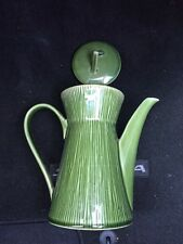 Gibson Elite Lotus Leaf Green Coffee/Tea Pot  With Lid UNUSED