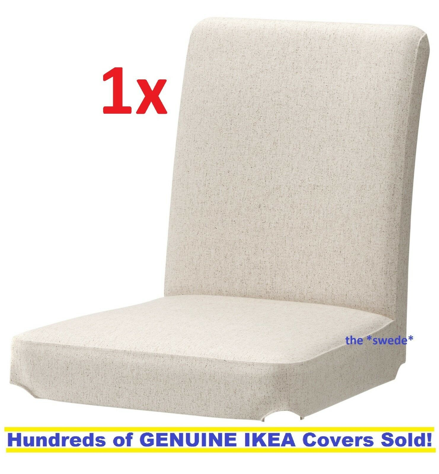 Picture of: Ikea Henriksdal 21 Dining Chair Cover Linneryd Natural Slipcover 2 Available For Sale Online Ebay