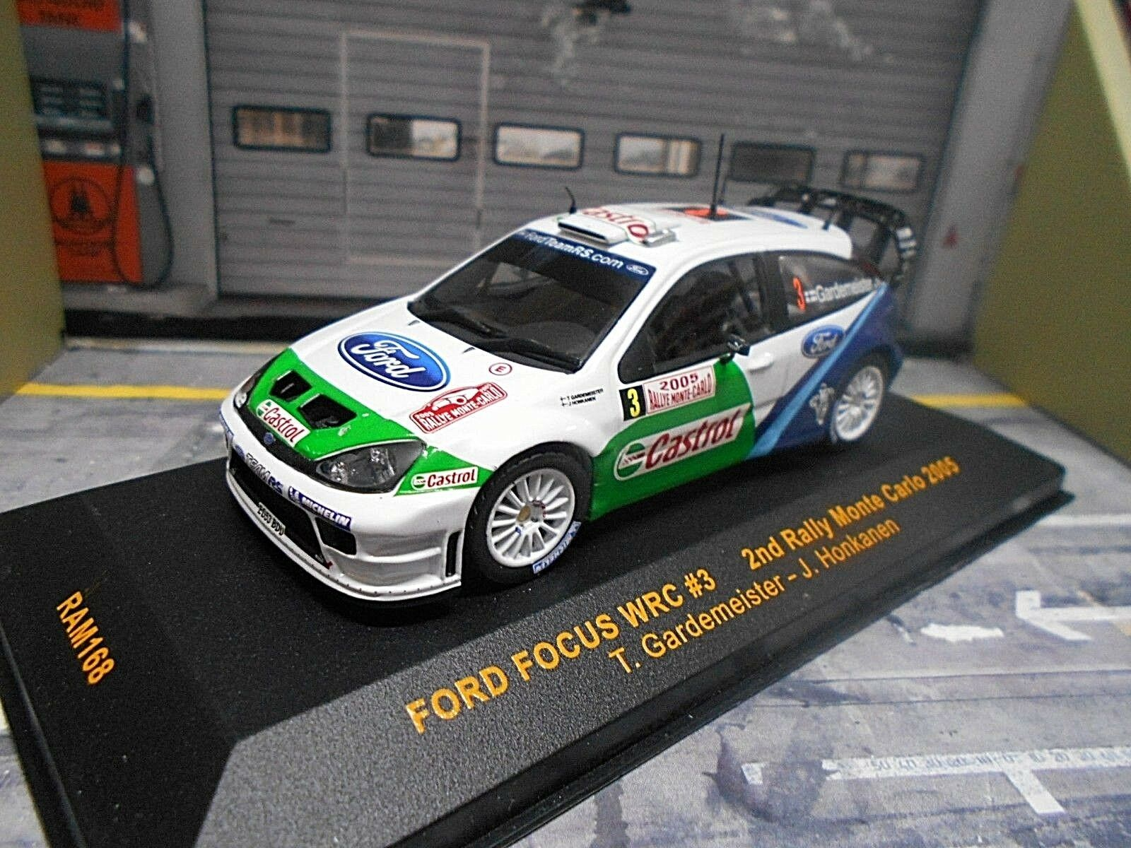 FORD Focus WRC RS Rallye Monte Carlo 2005 Gardemeister Castrol 2nd IXO 1 43