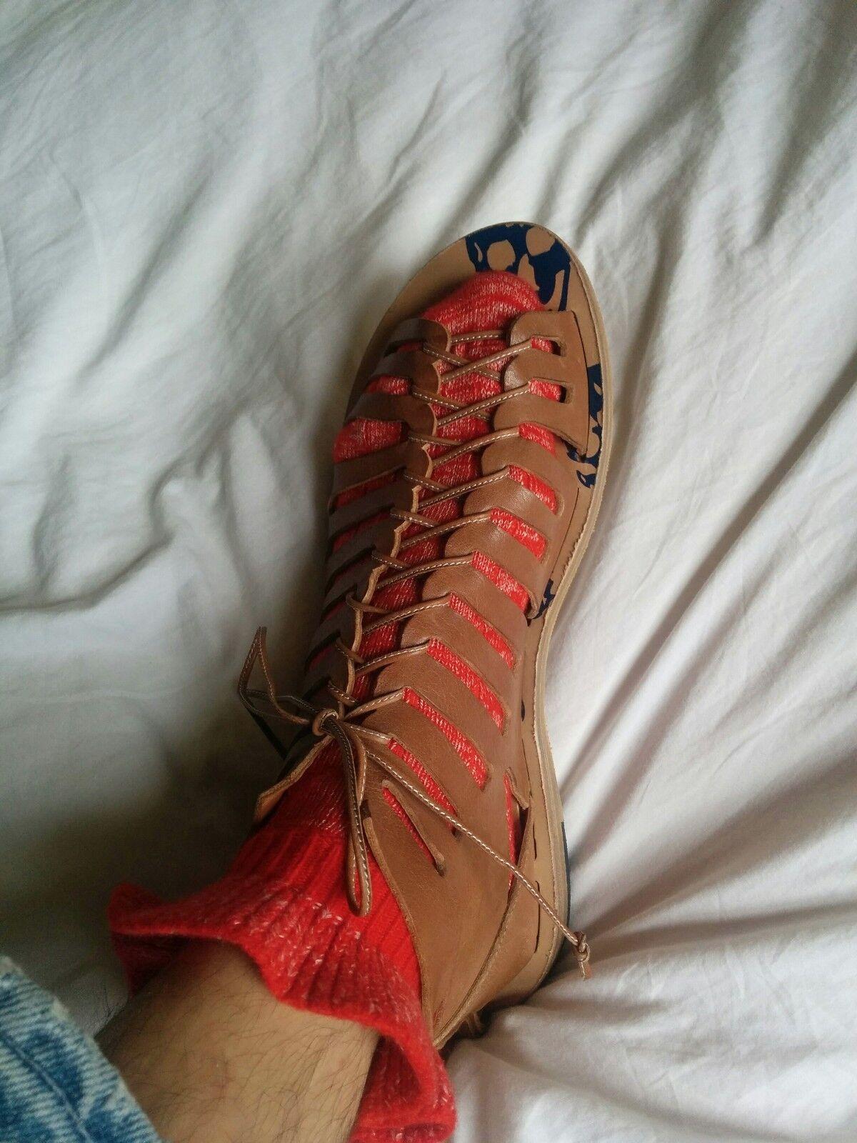 Classique Alexander McQueen Homme Découpe Bottine Sandale EU 44 UK 10 NEUF