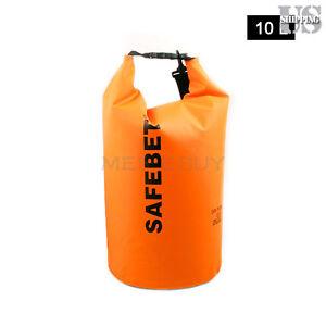 Orange 10L Waterproof Pouch Dry Bag for Kayaking Canoe Floating Rafting Camping