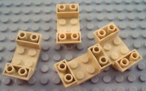 New LEGO Lot of 4 Tan 4x2 Double Inverted Cockpit Slope Pieces