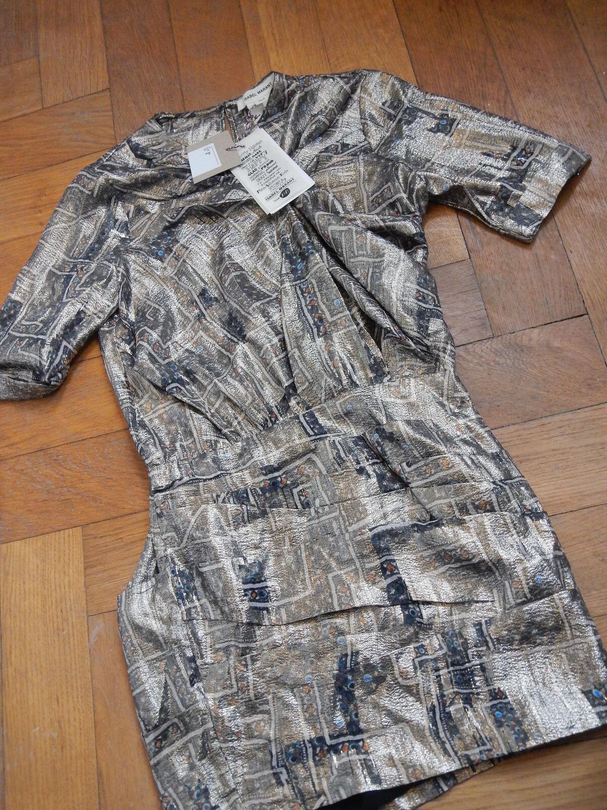 Luxus Isabel Marant pour H&M Metallic Kleid Weihnachten Weihnachten Weihnachten Hochzeit Seide Gr.34 Neu | Einfach zu bedienen  | Qualifizierte Herstellung  4cd2c7