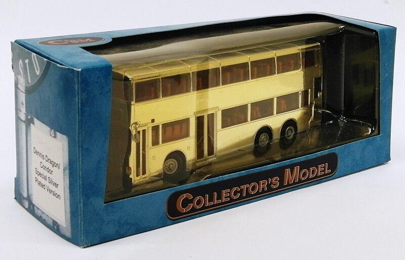 Collector's Model 1 76 Scale Bus DA116 - Dennis Dragon Condor - Silber Plated