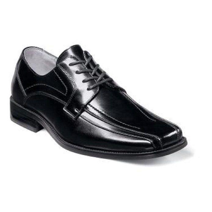 tutti i beni sono speciali Stacy Adams Uomo Corrado nero Leather Square Square Square Toe Lace Dress Business Wide Shoe  alta qualità