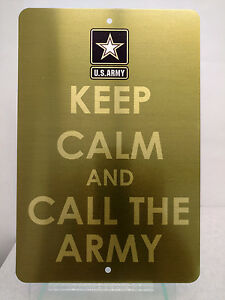 Keep-Calm-And-Call-The-Military-Army-Navy-USAF-Marines-Brushed-Metal-Sign