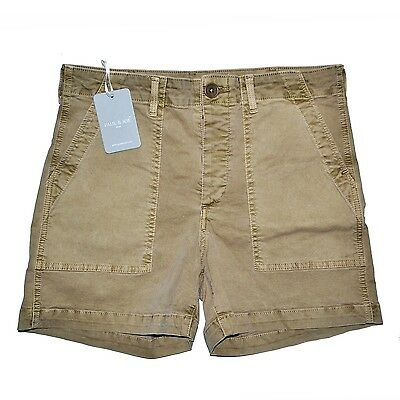 Paul & Joe Mini Short Tiana Twill Stretch Beige 25 26 27 28 29 Army Made In L.a.