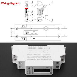 image is loading digital-220v-single-phase-din-rail-electric-meter-