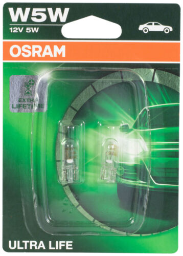 2x W5W Standlicht Außenleuchte Innenbeleuchtung Osram 2528ULT-02B Ultra Life 12V