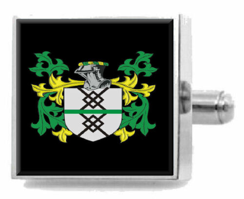 Mcintyre Scotland Heraldry Crest Sterling Silver Cufflinks Engraved Box
