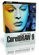 CorelDraw 9 Graphics Suite Retail Box for PC New! Mint in Sealed Box! MISB!!