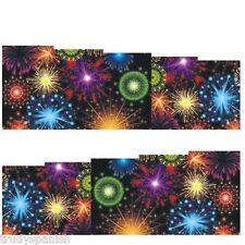 Full Wrap Water Transfers Nail Art Stickers Decals Rainbow Fireworks (174)