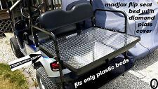 Diamond Plate Flip Bed cover fits MADJAX BRAND golf cart ezgo-club car-yamaha