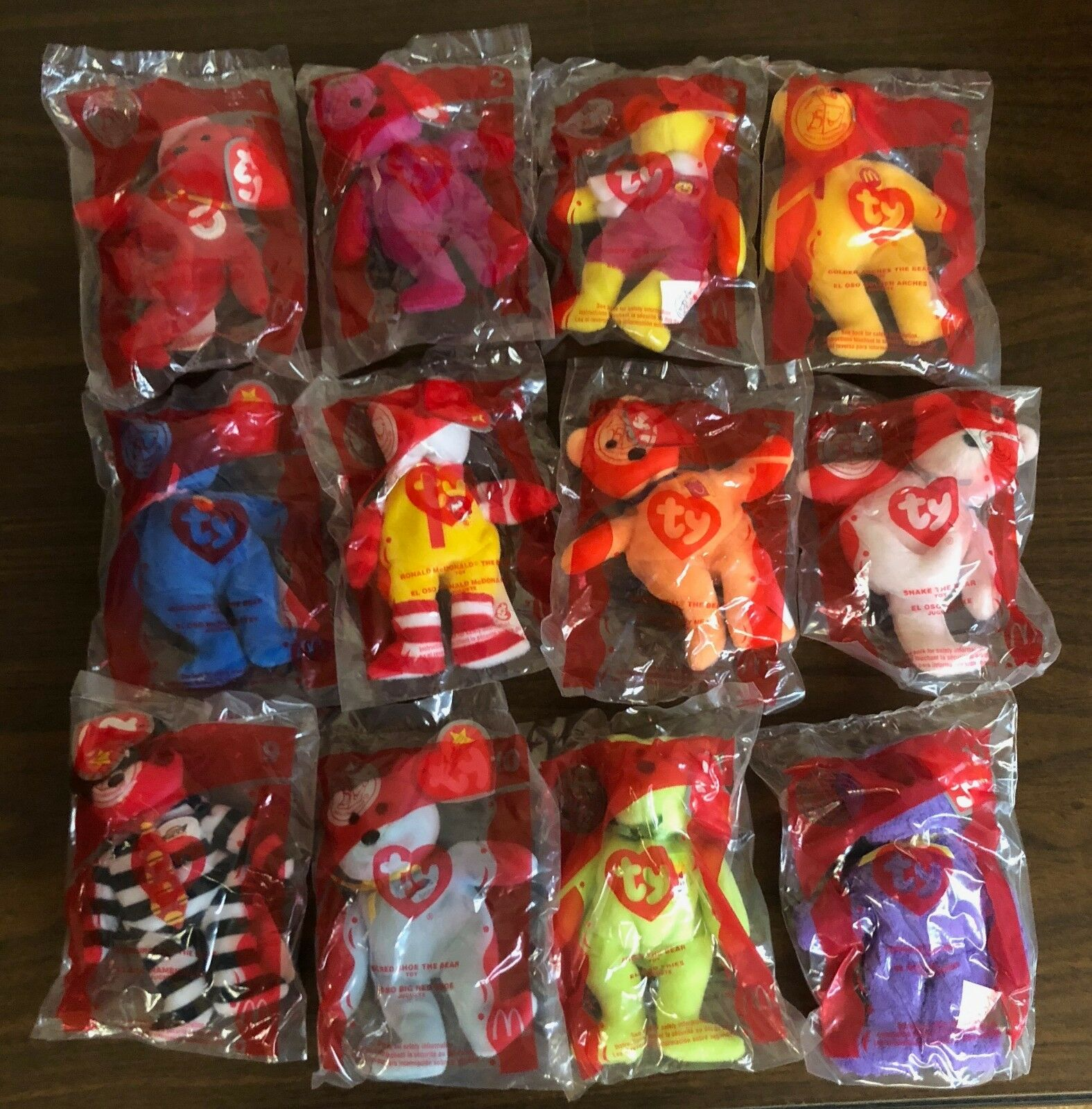 Ty Beanie Babies 25th Anniversary Anniversary Anniversary McDonalds Happy Meal Toys Full Set 081048