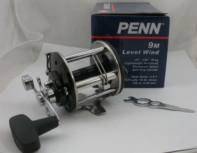 Penn 1152028 9M Levelwind Mulinello Pesca a Traina Colata e Parte Inferiore da