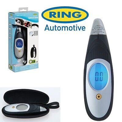 Ring Digital Tyre Pressure Air Gauge Portable LCD & Carry Case Car Van Bike RTG5