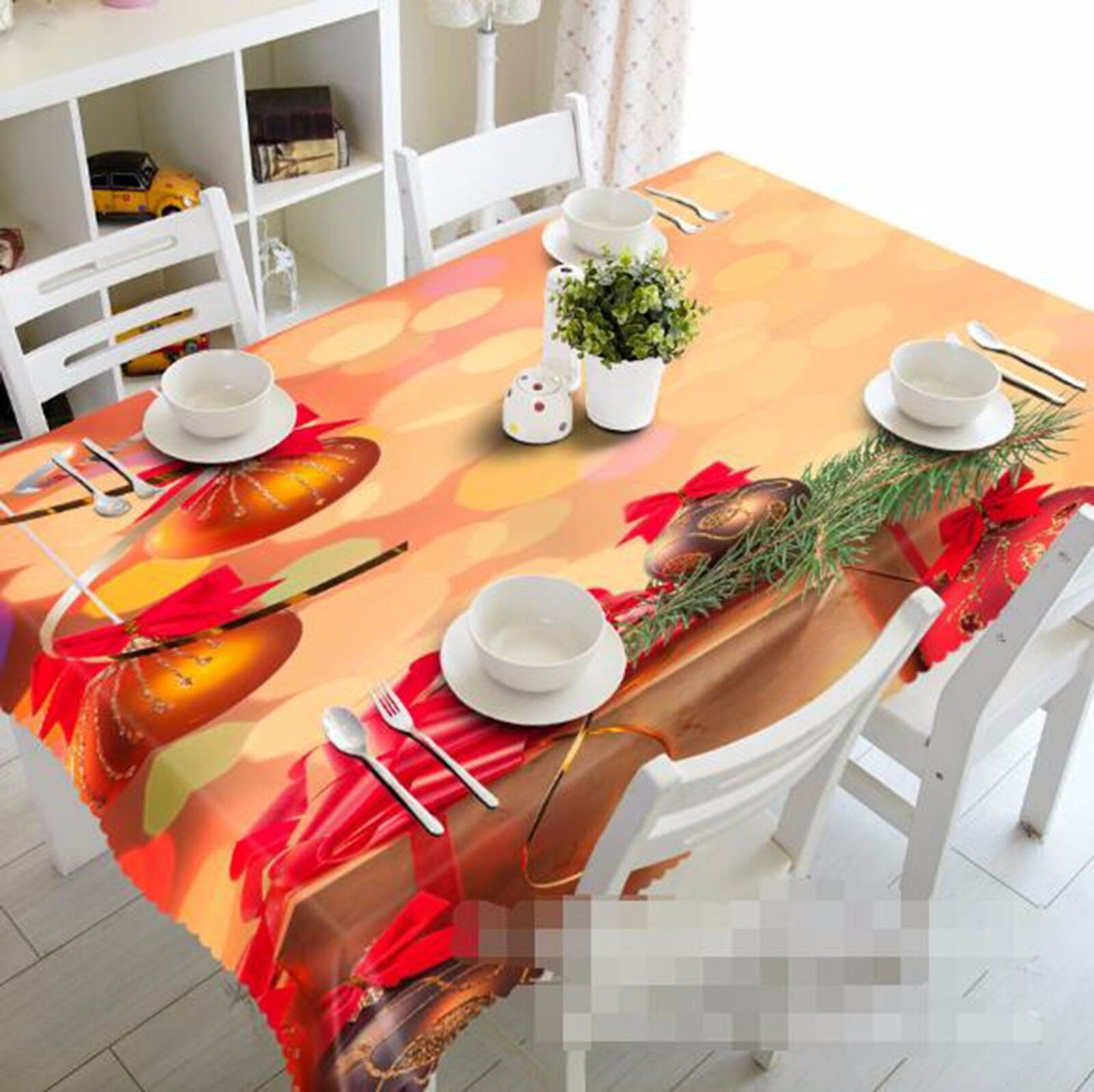 3D Bell or Nappe Table Cover Cloth fête d'anniversaire AJ papier peint Royaume-Uni Citron