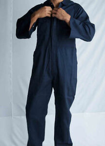Mens-Cotton-Drill-Coverall-Long-Sleeve-Overall-Work-Wear-Safety