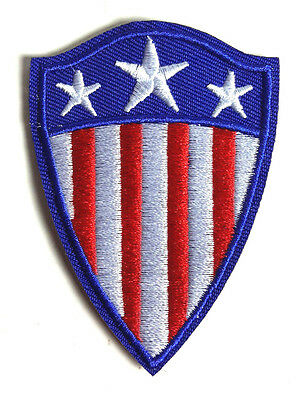 "Captain America Classic Shield 1940s SMALL 3"" Patch-FREE S&H (MCPA-13-Sm)"