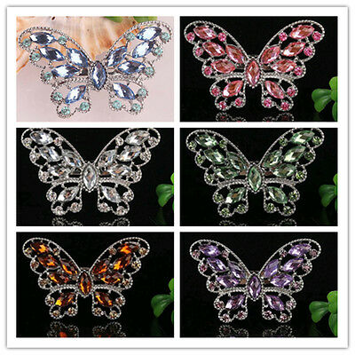 Chic 6 Colors Rhinestone Crystal Cool Butterfly Hollow & Alloy Pin & Brooch Gift