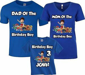 Image Is Loading Paw Patrol Birthday Boy Family MATCHING Customized NAME