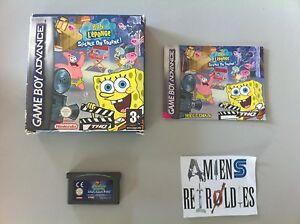Bob-l-039-Eponge-Silence-on-tourne-Nintendo-GameBoy-Advance-SP-GBA-PAL-FR