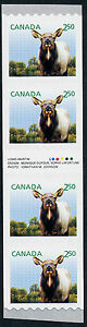 Canada 2714i Coil Inscription Strip MNH Wapiti, Baby Animal