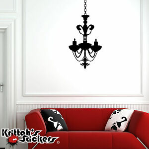 Chandelier-Vinyl-Wall-Decal-home-decor-candle-candelabra-gothic-art-sticker-CH04