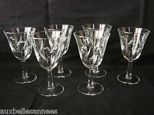 ANCIEN VERRE A PIED x 6 / EAU VIN RAISIN VIGNE CAVE ALCOOL BOISSON OLD GLASS